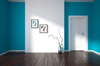 Very nicely painted interior in a aqua blue